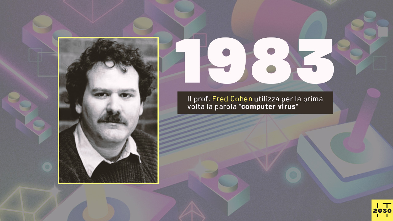 """Il prof. Fred Cohen utilizza per la prima volta la parola """"computer virus"""""""